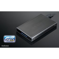 "AKASA AK-IC19U3-BK Noir S, 2,5"" for SATA/SSD with USB 3.0, externý box"