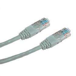 CNS patch kábel Cat5E, UTP - 5m , šedý PK-UTP5E-050-GR