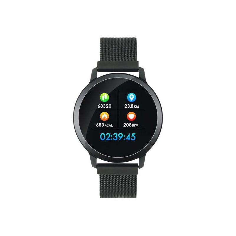 Canyon CNS-SW71BB smart hodinky, Bluetooth, farebný LCD displej 1.22´´, vodotesné IP 68, multišport režim, 2 náramky: či