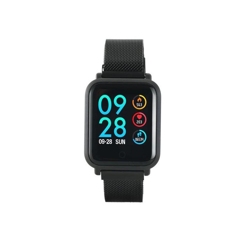 Canyon CNS-SW72BB smart hodinky, Bluetooth, farebný LCD displej 1.22´´, vodotesné IP68, multišport režim, 2 náramky: čie