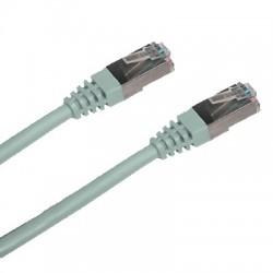 CNS patch kábel Cat6A, S-STP, LSOH - 1m , šedý PK-SSTP6A-010-GR