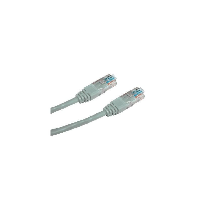 CNS patch kábel Cat5E, UTP - 10m , šedý PK-UTP5E-100-GR