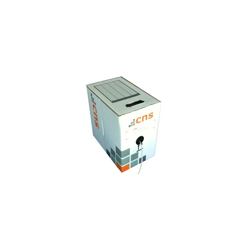 CNS kabel FTP, Cat5E, drát, PVC, box 100m - šedá CNS-SLDF5EP-100-GR