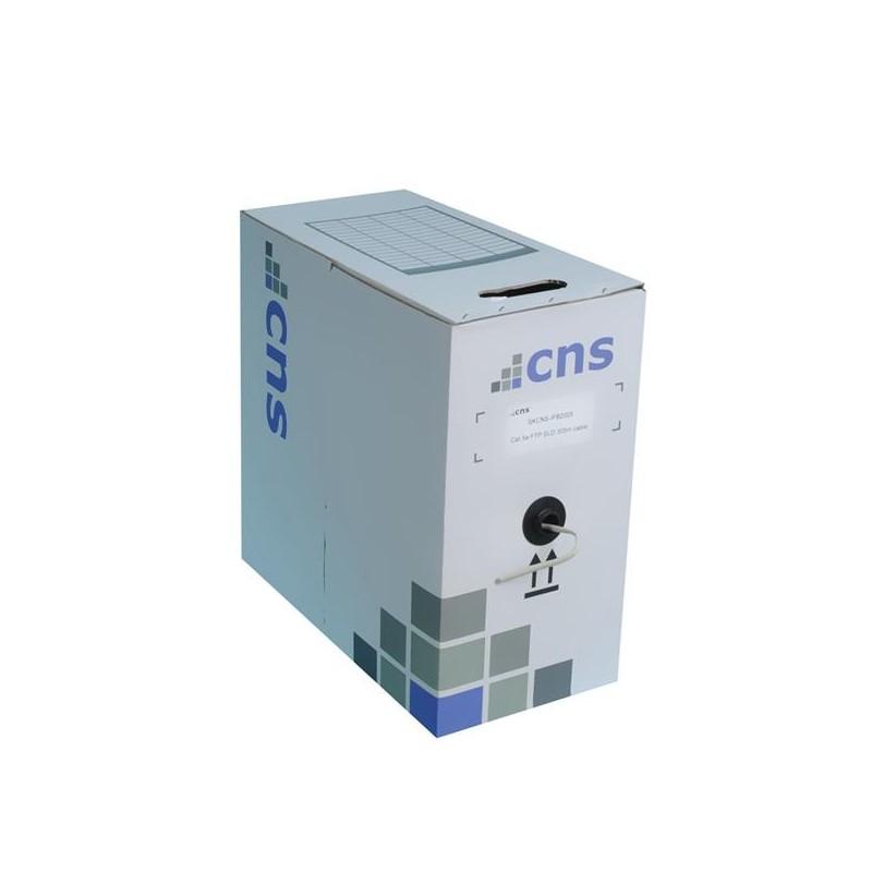 CNS kabel FTP, Cat5E, drát, PVC, box 305m - šedá CNS-SLDF5EP-305-GR