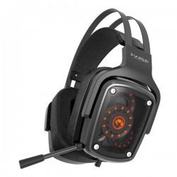 Marvo HG9046, slúchadlá s mikrofónom, ovládanie hlasitosti, čierna, TRUE 7.1 surround, USB podsvietená
