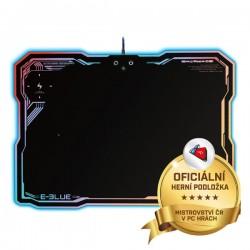 Podložka pod myš, EMP013, herná, čierna, 36.5x26.5 cm, E-Blue, podsvietená EMP013BKCH-IU