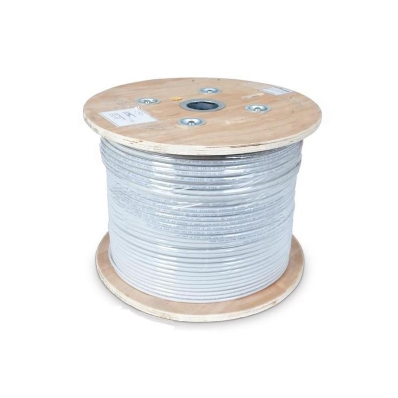 CNS kabel U/FTP, Cat6, drát, LSOH, cievka 305m - šedá CNS-SLDF6L-305-GR