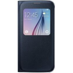 Samsung flipové púzdro S-view pre Samsung Galaxy S6, čierne EF-CG920PBEGWW