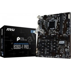 MSI B360-F PRO, LGA1151, DDR4, 4 x SATA, 4 x USB 3.1 Gen1