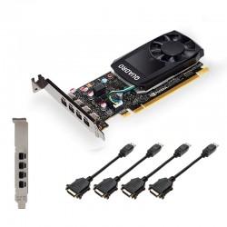 PNY NVIDIA Quadro P620 DVI, 2GB GDDR5 (128 Bit), 4x miniDP (4x mDP to DVI-D), LP VCQP620DVI-PB