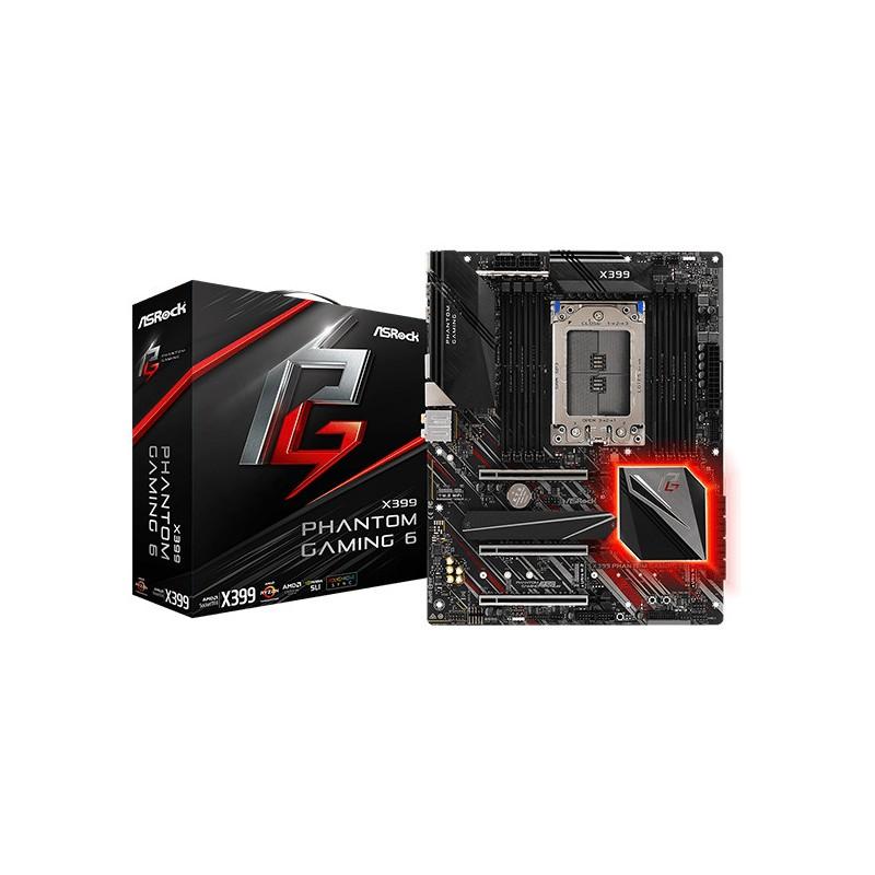 ASRock X399 PHANTOM GAMING 6, TR4 X399, DDR4 3400+(OC),  USB-C