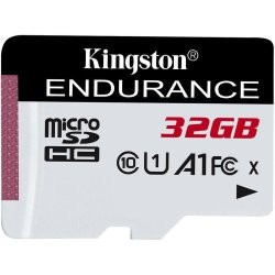 32 GB microSD karta Kingston High Endurance Class 10 UHS-I U1 (r95MB/s, w30MB/s) bez adaptéra SDCE/32GB