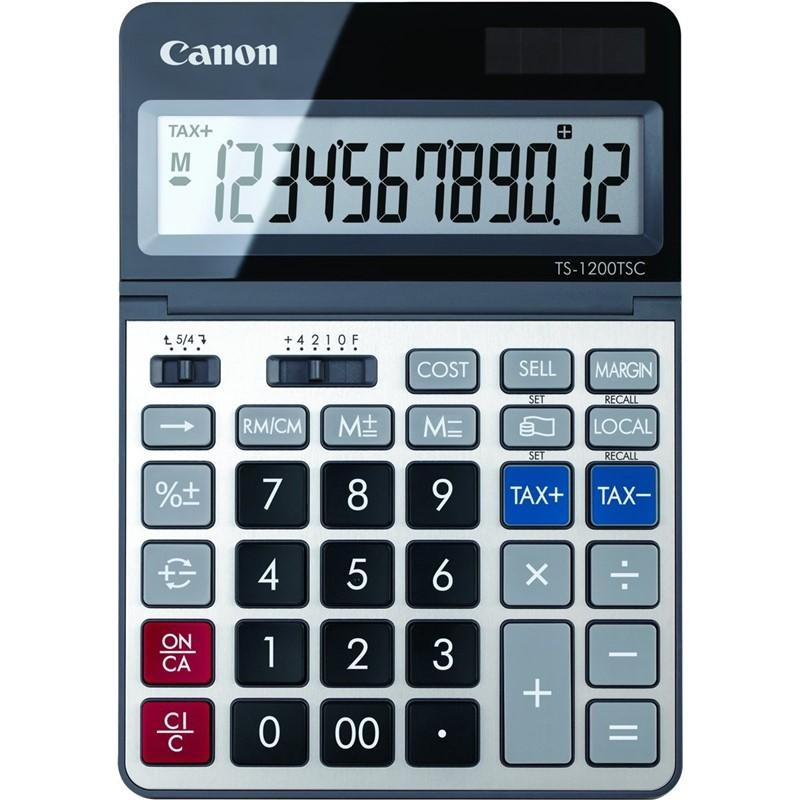 stolová kalkulačka CANON TS-1200TCG, 12 miest, solárne napájanie + batérie 2468C002
