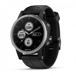 GARMIN Fénix 5S Plus Silver/Black band 010-01987-21