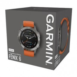 GARMIN Fénix 6 Sapphire, Titanium, Orange band 010-02158-14