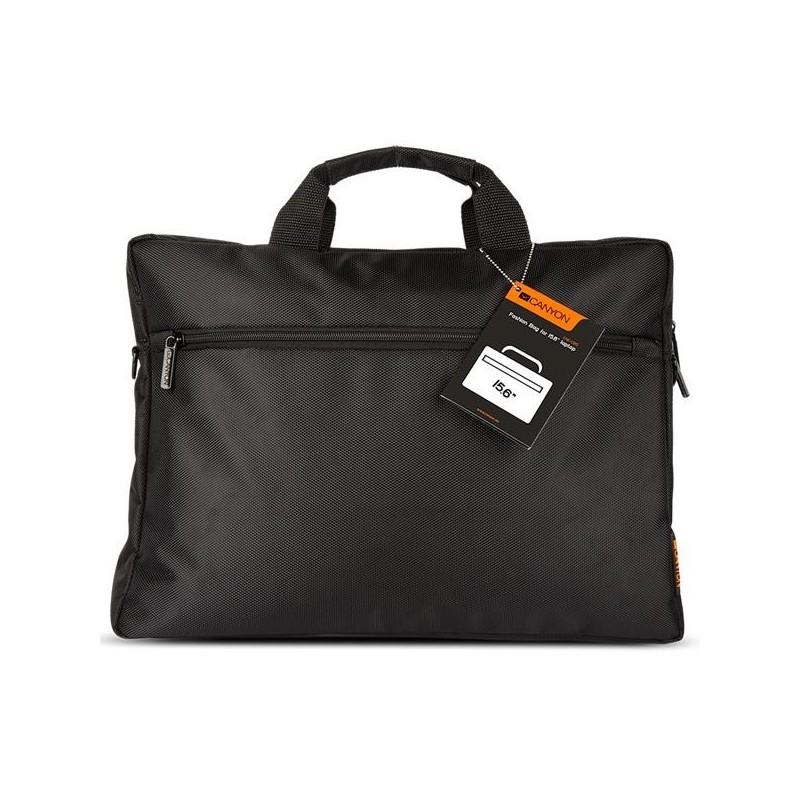 """Canyon CNE-CB5B2, jednoduchá taška na notebook do veľkosti 16"""", čierna"""