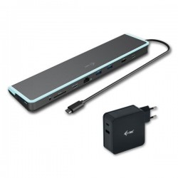 i-tec USB-C Flat Docking Station with Power Delivery 60W + Universal Charger 60W C31FLATV260W
