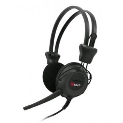 C-TECH sluchátka s mikrofonem MHS-02, černo-grafitová MHS-02BG