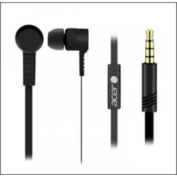 Acer In-Ear Headphones Black - Speaker ?10mm, Sensitivity: 93db±5db, Frequency Response: 20Hz - 20KHz NP.HDS11.00E