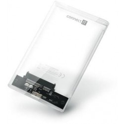 "CONNECT IT ToolFree Clear externí box pro HDD 2,5"" SATA, USB 3.0,..."
