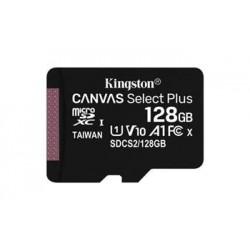 KINGSTON 128GB microSDHC CANVAS Plus Memory Card 100MB/85MBs- UHS-I...
