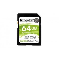 KINGSTON 64GB SDHC CANVAS Plus Class10 UHS-I 100MB/s Read Flash Card SDS2/64GB