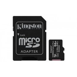 KINGSTON 64GB microSDHC CANVAS Plus Memory Card 100MB read - UHS-I...