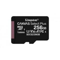 KINGSTON 256GB microSDHC CANVAS Plus Memory Card 100MB/85MBs- UHS-I...