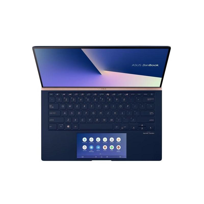 """ASUS Zenbook UX434FLC-A5294T Intel i5-10210U 14"""" FHD matny MX250/2GB 8GB 512G SSD WL BT Cam W10 modry;ScreenPad"""
