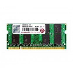 TRANSCEND - TS256MSQ64V8U - MEMORY, 2GB, SODIMM, DDR2, 800MHZ