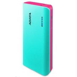 ADATA PowerBank PT100 - externí baterie pro mobil/tablet 10000mAh, světle modrá/růžová APT100-10000M-5V-CTBPK