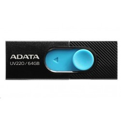ADATA Flash Disk 16GB USB 2.0 Dash Drive UV220, Black/Blue AUV220-16G-RBKBL