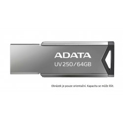 ADATA Flash Disk 32GB USB 2.0 DashDrive UV250, stříbrná AUV250-32G-RBK