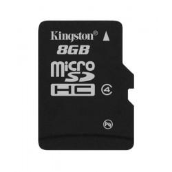 8 GB . microSDHC karta Kingston Class 4 (r/w 4MB/s) bulk SDC4/8GBCP